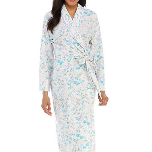 Miss Elaine, Cottonessa Long Wrap Robe